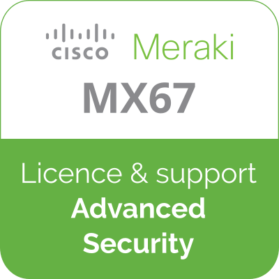 Licence Meraki MX67 Advanced Security