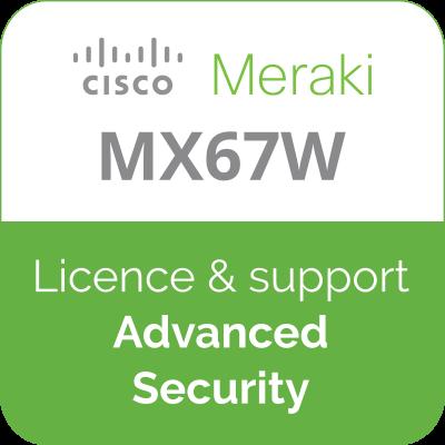 Licence Meraki MX67W Advanced Security