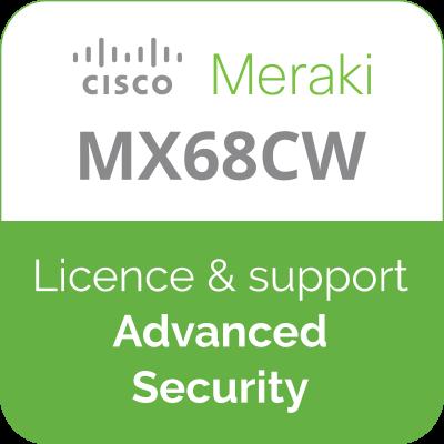 Licence Meraki MX68CW Advanced Security